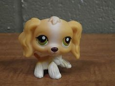 Littlest Pet Shop 79 Golden Cocker Spaniel Dog w/Hazel Eyes; Free Shipping!