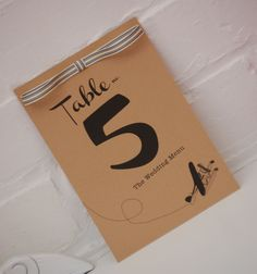 Cute Table Number