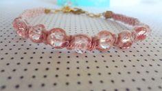 Pulseira de macramê shambala com cristais rosa. Acabamento com um cristalzinho após o fecho.    Consulte disponibilidade de cores !    Frete por conta do comprador !    Economize o frete: retire em Santo André    Fique à vontade para fazer perguntas ! R$14,95