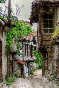 I do not claim ownership of these images unless otherwise stated. City Landscape, Fantasy Landscape, Landscape Paintings, Abandoned Houses, Abandoned Places, Old Houses, Beautiful World, Beautiful Places, Turkish Architecture