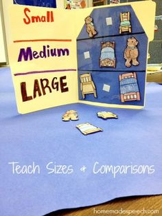 Can be used to teach sizes and make comparisons/find differences Bear Activities Preschool, Book Activities, Preschool Activities, Traditional Tales, Traditional Stories, Fairy Tales Unit, Fairy Tale Theme, Goldilocks And The Three Bears, 3 Bears
