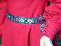 Medieval Linen Gown with full sleeves in your Custom Size and Fabrics. $490.00, via Etsy.