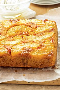 Carrot cake recipes with pineapple often call for the tropical fruit to be stirred into the batter. But for this showy, totally Instagram feed-worthy dessert, bake fresh pineapple slices whole on the bottom of the sweet, nutmeg-spiced carrot cake. #carrotcake #carrotcakerecipes #bestcarrotcakerecipes #easter #springdesserts #bhg Carrot Cake Bars, Carrot Spice Cake, Homemade Carrot Cake, Best Carrot Cake, Tropical Carrot Cake Recipe, Classic Carrot Cake Recipe, Pineapple Slices, Spring Desserts, Easter Recipes