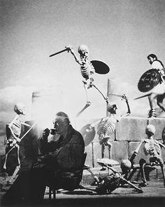"Legendary animator Ray Harryhausen ( ""Jason and the Argonauts"",1963 and many other films)."