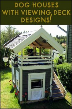 Cool DIY Dog House Plans Anyone Can Build DIY Projects There are many options available for you when looking for cool dog houses for your dog. There are many types of dog houses available, and some types a. Pallet Dog House, Dog House Plans, House Dog, Luxury Dog House, Dog House From Pallets, Double Dog House, Tiny House, Goat House, Cool Dog Houses