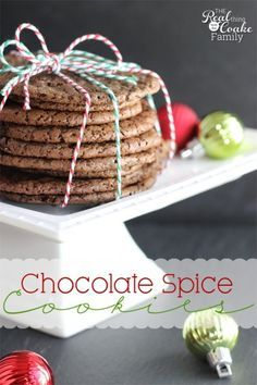 Chocolate Spice Cookies Recipe! ~ at TheFrugalGirls.com - #cookie #recipes