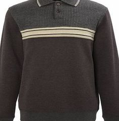 Bhs Charcoal Long Sleeve Collared Sweatshirt, GREY Charcoal long sleeve sweatshirt with textured shoulder detail and contrast chest panel.65% Cotton, 35% PolyesterMachine Washable http://www.comparestoreprices.co.uk/mens-clothing-accessories/bhs-charcoal-long-sleeve-collared-sweatshirt-grey.asp