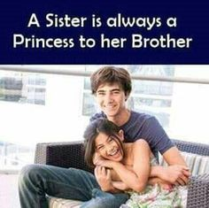 Tag-mention-share with your Brother and Sister Brother Sister Love Quotes, Brother And Sister Relationship, Sister Quotes Funny, Bff Quotes, Funny Quotes, Siblings Funny, Sibling Quotes, Sisters Goals, Sis Loves