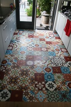 Love this floor with Portugese tiles, no link to where you can get them sadly.