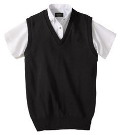 Edwards Garnent Men's Jersey Stitch V-Neck Sweater Vest, XXX-Large ...