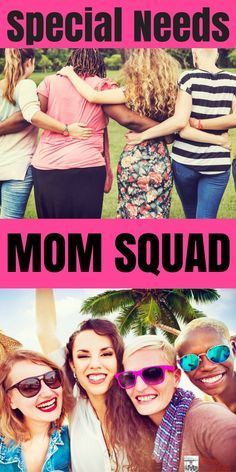 Special Needs Moms need encouragement. They need uplifting & humorous quotes. Special needs moms need strength. But most of all, they need a squad. They need support & help from one another, because we can't do this alone! If you're a Special Needs Mom you need to read this! #SpecialNeedsParenting