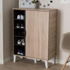 Baxton Studio Adelina Shoe Cabinet