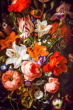 Rachel Ruysch - Flowers in a Glass Vase