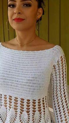 Pull Crochet, Mode Crochet, Crochet Poncho, Crochet Cardigan, Crochet Lace, Octopus Crochet Pattern, Crochet Bikini Pattern, Crochet Motifs, Crochet Woman