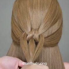 Beauty tutorial  by: @cinthiatruong تسريحة سهلة وجميلة