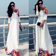 👙Gorgeous long sleeve maxi dress👙 Gorgeous floral detail maxi dress So classy, so chic!!    HUGE SALE!!! UP TO 50% off on bundles Comment on size needed  Dresses Maxi