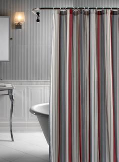 red and cream shower curtain. shower curtain set in red  brown and grey Fieldcrest Luxury Multi Stripe Shower Curtain Brown gray 72x72