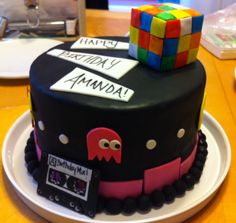 80's themed cake for a friend's birthday