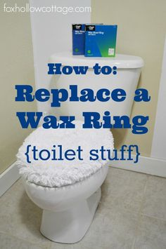 How to: replace a wax ring seal - #diy #toilet #tip
