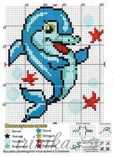 Cross Stitch Sea, Beaded Cross Stitch, Cross Stitch Animals, Cross Stitch Charts, Cross Stitch Designs, Cross Stitch Embroidery, Hand Embroidery, Cross Stitch Patterns, Diy Crochet Pillow