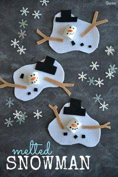 35 snow(o)man kids craft - 101ideer.se
