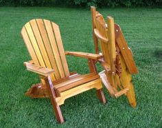Fauteuil Adirondack pliant en Cèdre  Rustic Cedar Folding Adirondack Chair