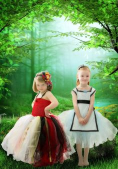 Alice in Wonderland Tutu Dress for Baby Girls Tulle Skirt Dress with Apron and Black Hairbow Headband Tea Party.