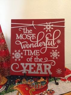 Christmas wood craft,  The most Wonderful Time of the Year   Go Ahead & Craft
