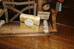 Orange handmade bar of soap.  Handmade Soap by Riba.