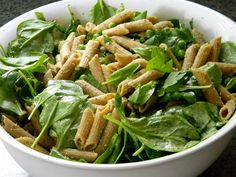 Whole Wheat Penne with Pesto and Spinach