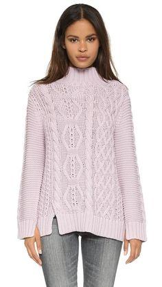 525 America Связанный вручную свитер с воротником под горло | SHOPBOP