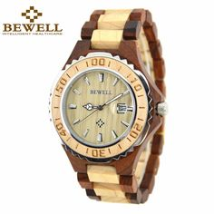 >> Click to Buy << BEWELL Famous Brand Men's Watch Calendar Display Waterproof Wooden Watch Anolog Quartz Reloj Hombre Paper Box 100BG #Affiliate