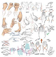 Video tutoriales para aprender a dibujar manos