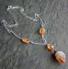 #Citrine necklace, before...   #citrine #necklace  Repin, Like, Share!  Thanks!