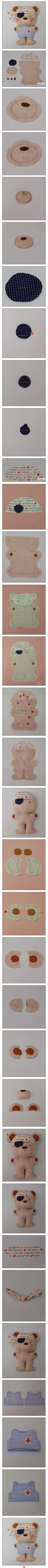 Sew your own teddy bear! This is adorable.