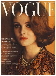 WE GRACE CODDINGTON: Grace Coddington for Vogue UK, August 1962 - Image Amplified: The Flash and Glam of All Things Pop Culture. From the Runway to the Red Carpet, High Fashion to Music, Movie Stars to Supermodels.