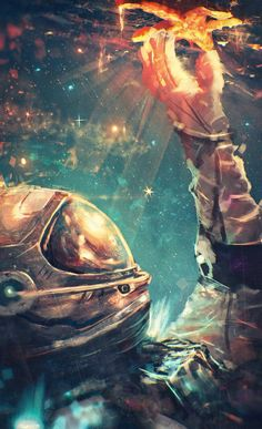 Here's digital arts inspiration for digital creatives. Artists beautifully and brilliantly created these digital art piece. Space Artwork, Wallpaper Space, Galaxy Wallpaper, Cool Wallpaper, Cool Artwork, Artwork Drawings, Space Illustration, Digital Illustration, Illustrations