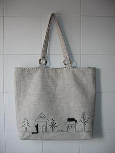 Cotton Shopping Bags, Reusable Shopping Bags, Reusable Bags, Summer Tote Bags, Diy Tote Bag, Japan Bag, Diy Bags Purses, Embroidery Bags, Linen Bag