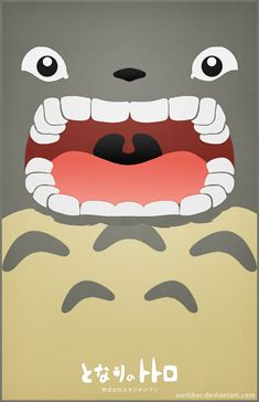 Totoro Poster - I'MMA EAT CHU by Nortiker.deviantart.com on @deviantART