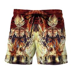 Dragon Ball Z Goku Super Saiyan Strong Serious Epic Boardshorts