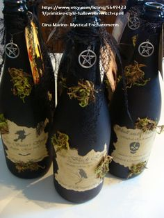 I can make these myself!! Potions, spells, potion bottles, Spells & Potions,WITCHES, WITCH POTION BOTTLES, POTIONS, POTION BOTTLES, Primitive Style Halloween