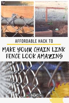 Are you looking into giving your backyard a DIY improvement? Upgrade your chain link fence look by adding some rustic accents with our affordable hack tutorial. Check it out today! Chain Link Fence Cover, Chain Link Fence Privacy, Diy Fence, Backyard Fences, Backyard Projects, Backyard Landscaping, Chain Fence, Fence Ideas, Gate Ideas