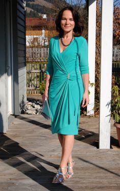 Jadegrünes Wickelkleid | Lady of Style