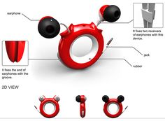 Ear MIKI is a very cute ring that helps you manage your phone and earbuds in one go. Simply pull out the earplugs from one end and hook up to the phone/music device from the line. When not in use, slip the ring around your finger, like a cool accessory. The earbuds retract into the hub and give the Mickey effect. Sweet! @Yanko Design