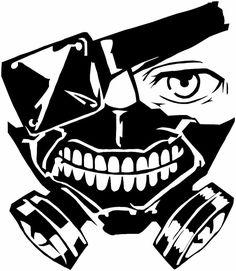 Tokio Ghoul - Máscara Kaneki animado Etiqueta Pegatina para el coche / Truck / ordenador portátil