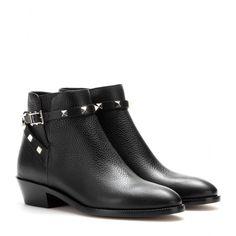 Valentino - Rockstud leather ankle boots - mytheresa.com GmbH