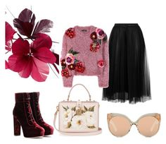 """flowers"" by agnetta13 on Polyvore featuring Dolce&Gabbana, Valentino, Jimmy Choo and Linda Farrow"