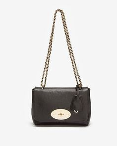 http://www.shopstyle.com: Mulberry Lily Grainy Print Leather: Black