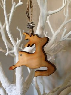 Handmade wooden christmas decorations flying reindeer by dottydiva, £0.95