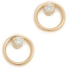 Zoe Chicco Paris Stud Earrings (18,640 INR) ❤ liked on Polyvore featuring jewelry and earrings